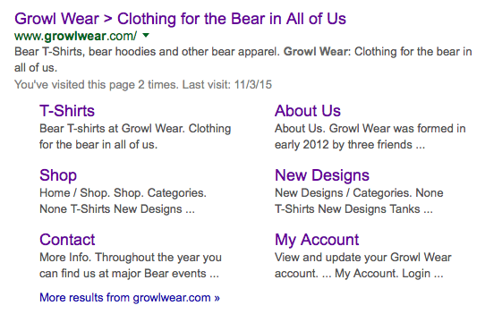 Growl Wear Search Result