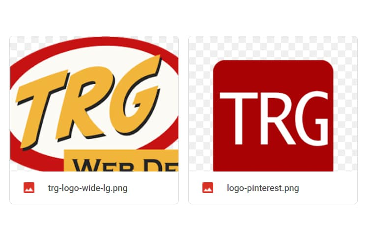 Image showing TRG Web Designs' Google My Business card