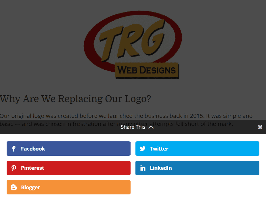 Image showing TRG Web Designs Facebook Page