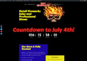 Indy Fireworks Home Page Desktop Screenshot