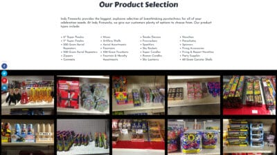 Indy Fireworks Product List