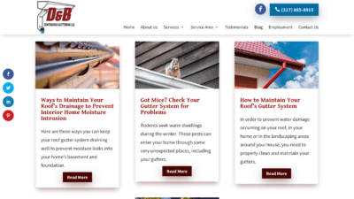 Image of D&B Guttering Blog page