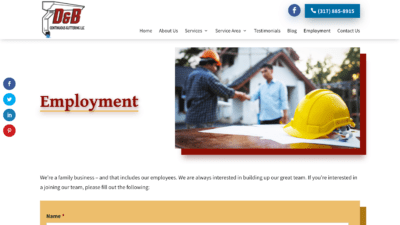 Image of D&B Guttering Employment page
