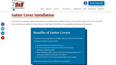Image of D&B Guttering Gutter Cover Installation page