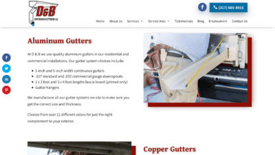 Image of D&B Guttering Gutter Installation page